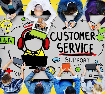 EVERYONE IS IN 'CUSTOMER SERVICE'