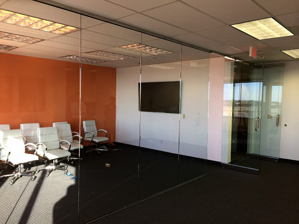 Interior glass wall and doors
