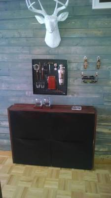 Bar Cart and Dresser