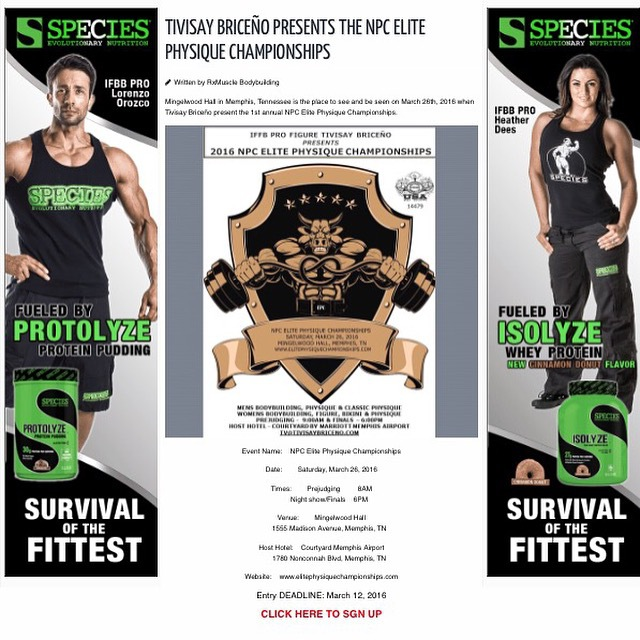 NPC EPC makes front page of RxMuscle.com