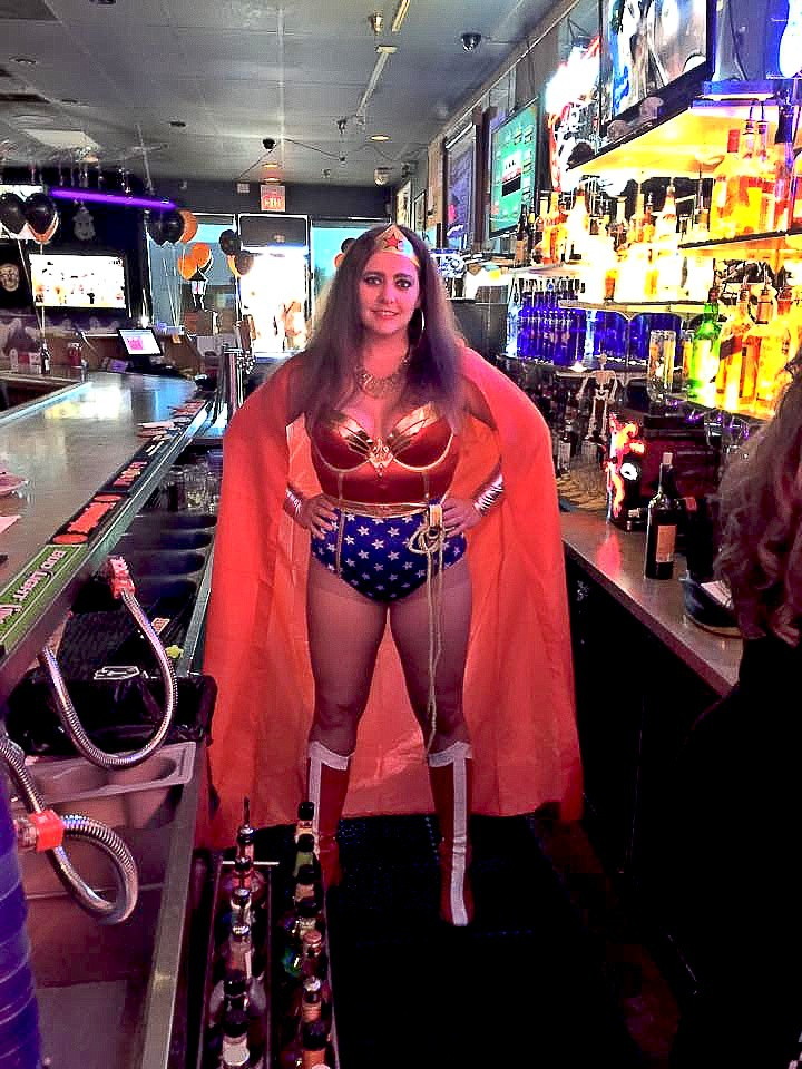 Our Bartender Angel on Halloween