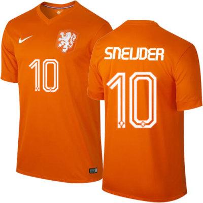 Netherlands Home Jersey-Sneijder