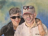 fine art, portraits, commissions, friend, pastels, painting.