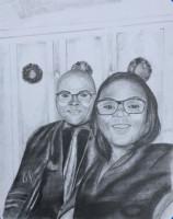Gift, black & white, wife, commission, portraits,