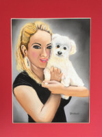 gift, mom, baby, fine_art, commission, pastel, painting,