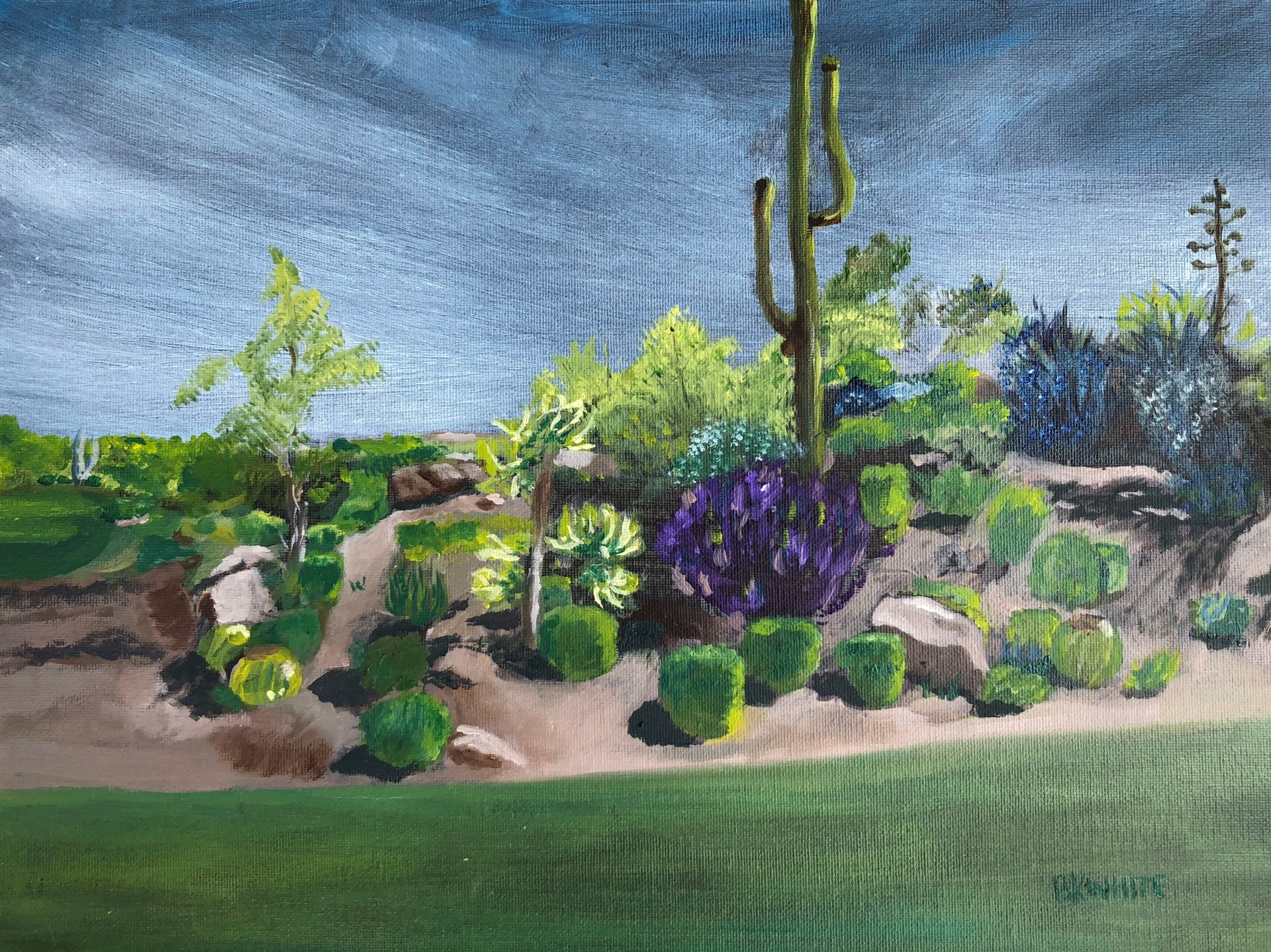 Golf, vacation, gift, troon, painting, AZ,