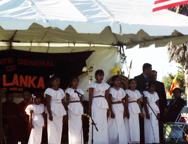 Independence 2001 Children singing national anthem