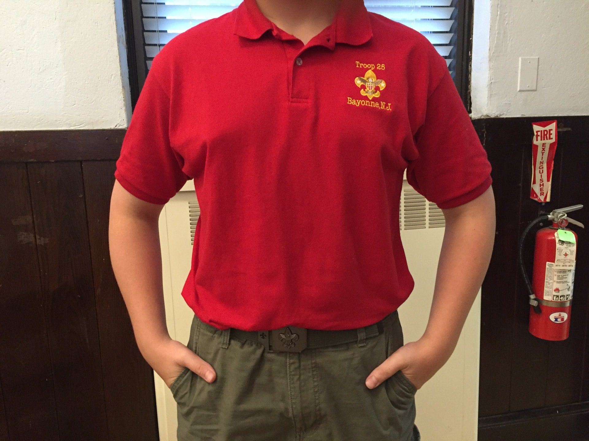 Troop 25 red shirt