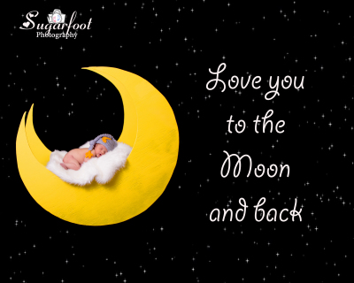 charlotte newborn photographer baby girl moon