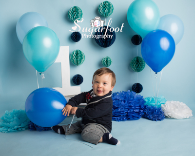 child Studio Session Charlotte studio photographer cake smash milestone