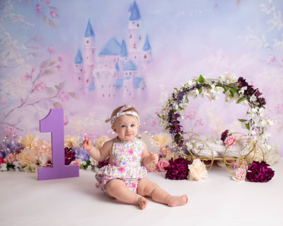 child Studio Session St. Louis studio photographer cake smash milestone