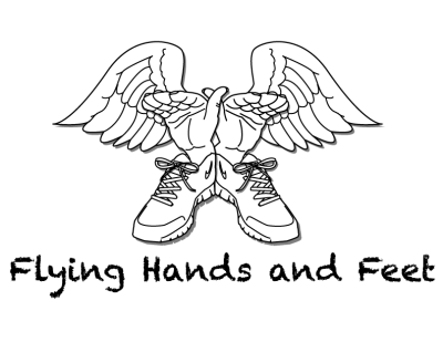Flying Hands and Feet Logo