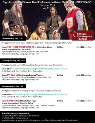 Oregon Shake Shakespeare Poster Design
