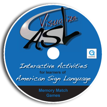 Visualize ASL Memory Games CD Design