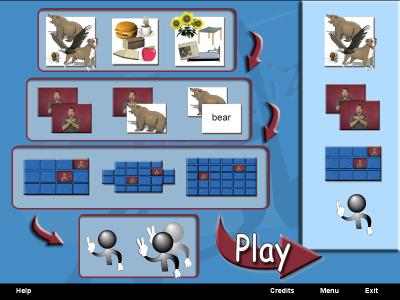 Visualize ASL Memory Match Game CD Design