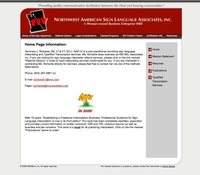 NWASLA Website Design