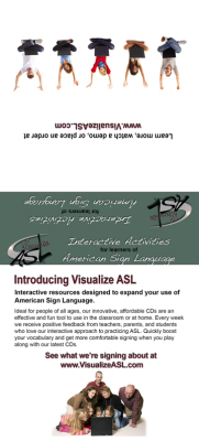Visualize ASL Mini Brochure Design