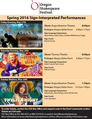 Oregon Shakespeare Festival Poster Design