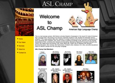 ASL Champs Web Design