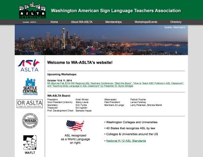 WA-ASLTA Web Design