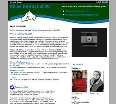Allies Retreat Web Design