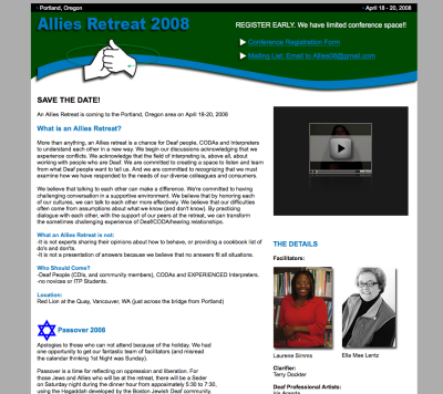 Allies Retreat Web Design