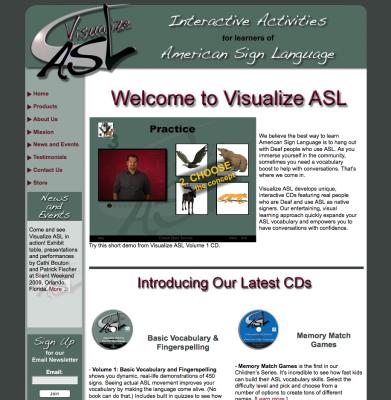 Visualize ASL Web Design