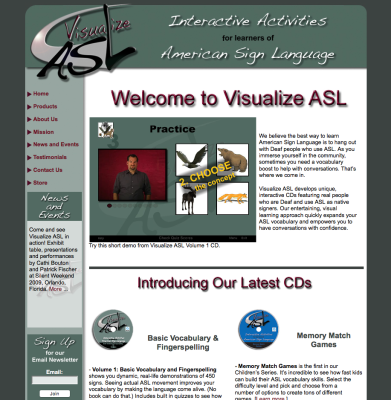 Visualize ASL Web Design