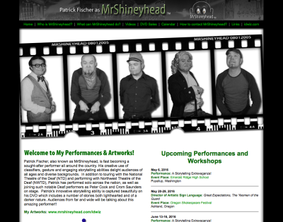 MrShineyhead Previous Web Design