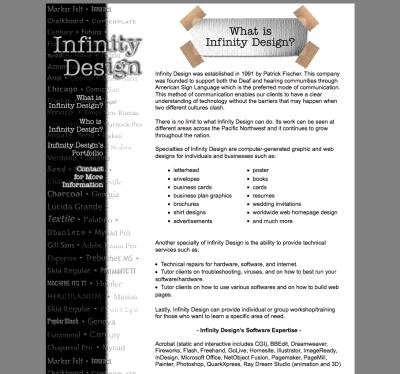 Infinity Design Web Design
