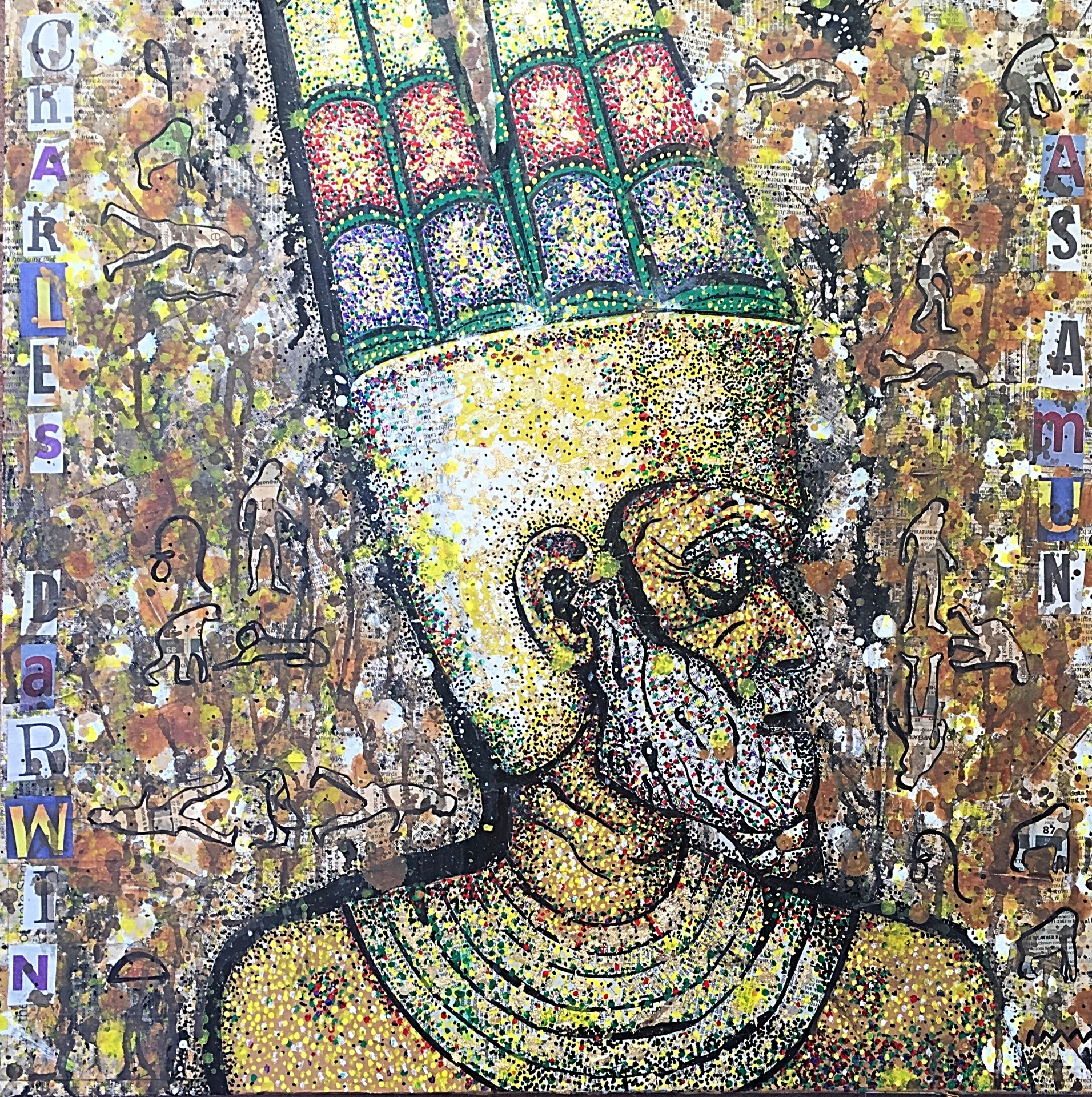 Charles Darwin as Amun