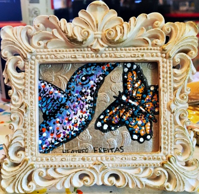 Hummingbird and Monarch 7
