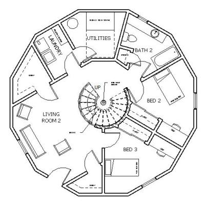 Dodecagon House - Plan