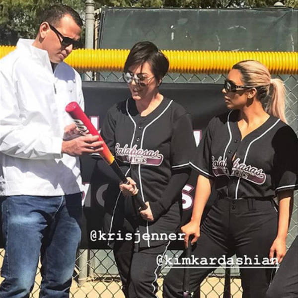 The Kardashias Play Baseball With Alex Rodriguez