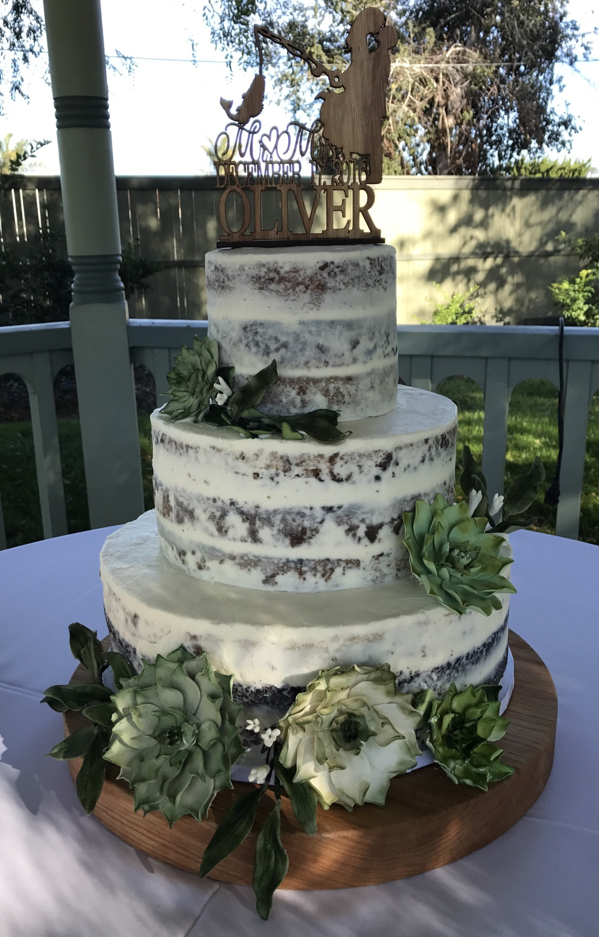 "Lace ""Lillie"" Wedding Cake"