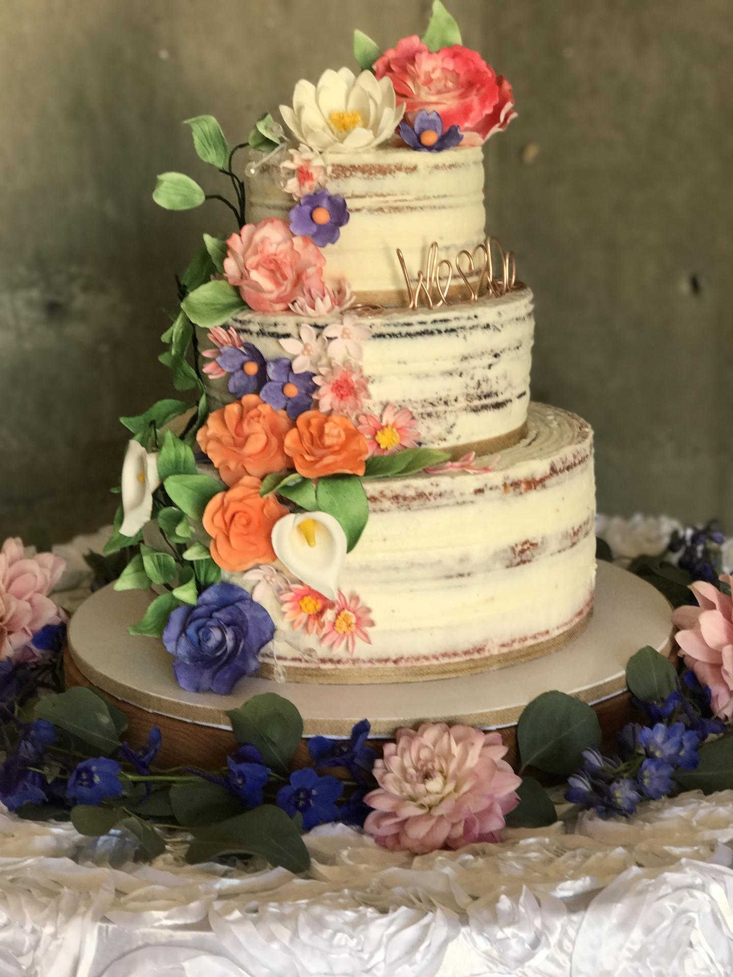 "Lace ""Lillie"" Wedding Cake"