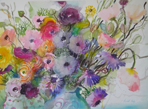 Summer Flowers By Elizabeth Martyn Artist Water Colour Art Classes