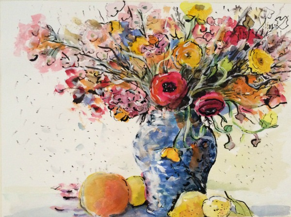 Flowers and Energy By Elizabeth Martyn Artist Water Colour Art Classes