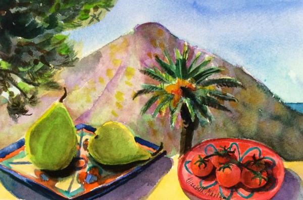 Peaceful Place, Sicily By Elizabeth Martyn Artist Water Colour Art Classes