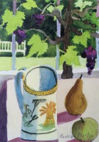 18th Century Harvest Mug, Hampshire UK by Elizabeth Martyn Artist Water Colour Art Classes