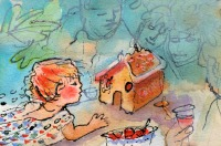 The Gingerbread house by Elizabeth Martyn Artist Water Colour Art Classes