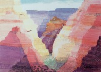 Grand Canyon, USA by Elizabeth Martyn Artist Water Colour Art Classes