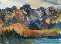 The Remarkables, Queenstown by Elizabeth Martyn