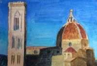 Evening Shadow, The Duomo, Florence by Elizabeth Martyn