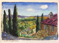 View from S Gimignano, Tuscany by Elizabeth Martyn