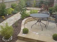 Small sloping garden