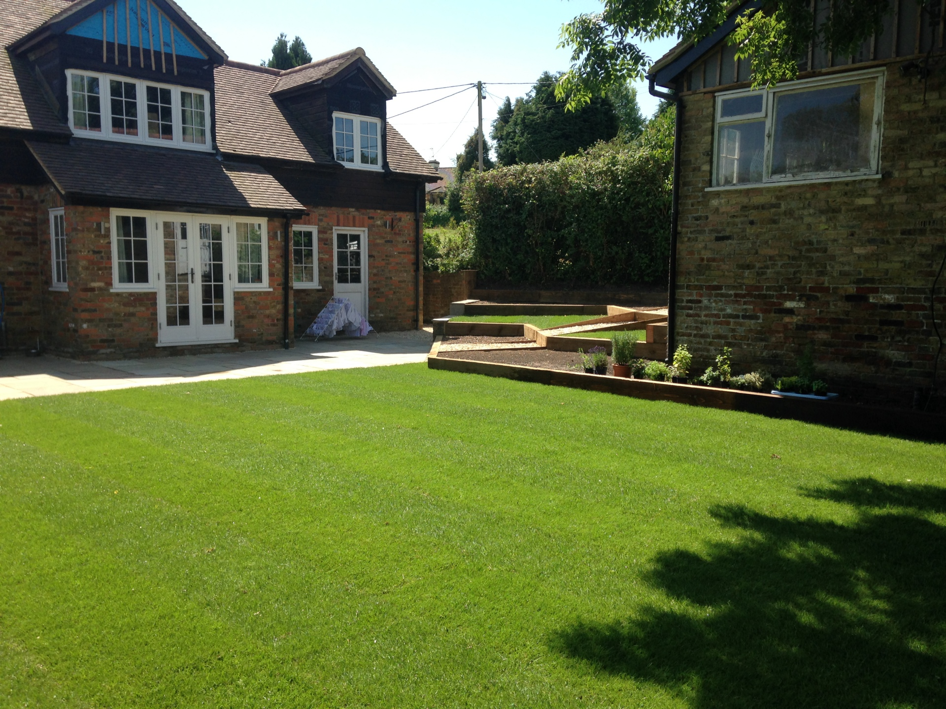 Landscape - Lawn and sitting area
