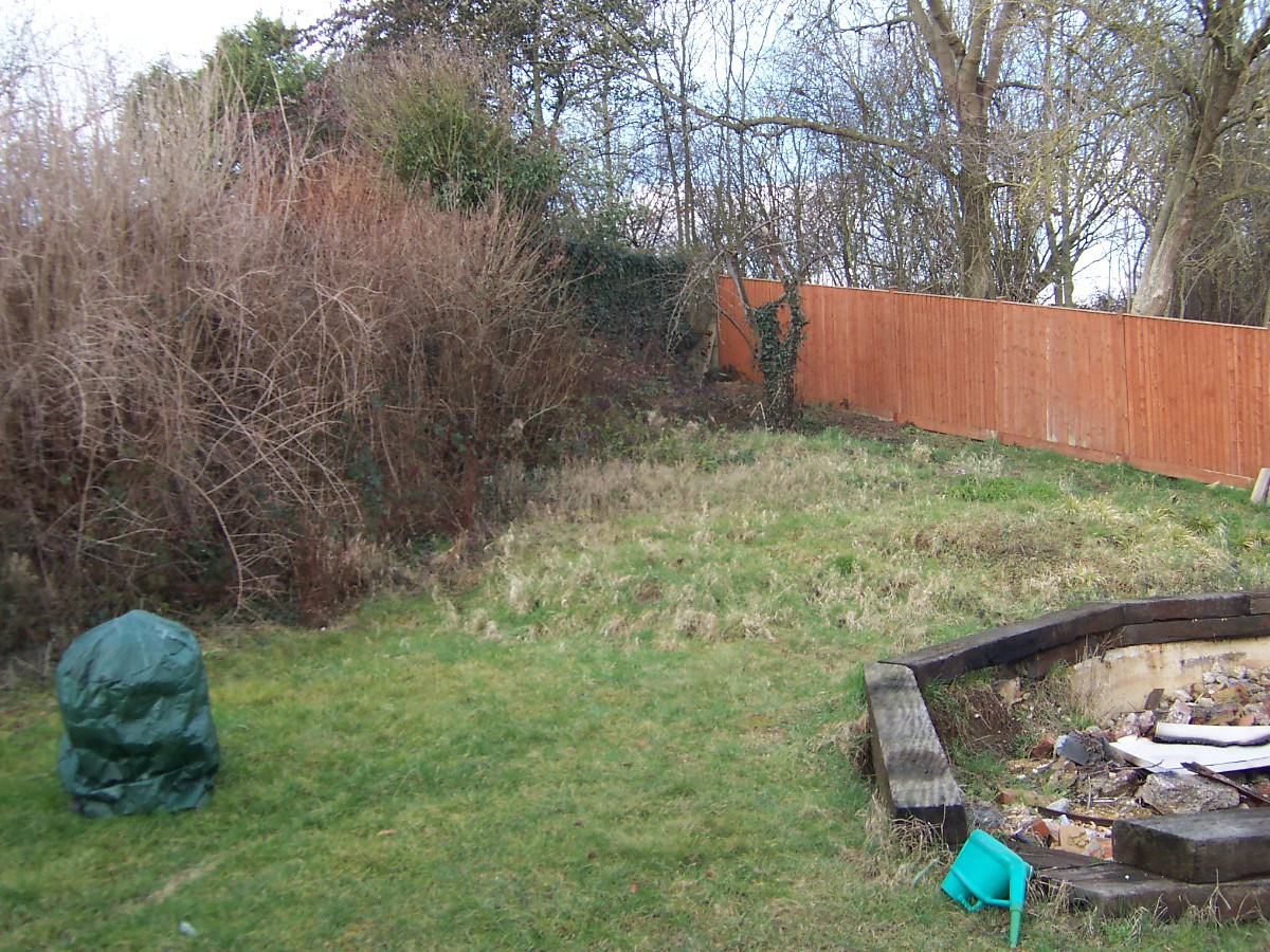 Rear garden on hillside