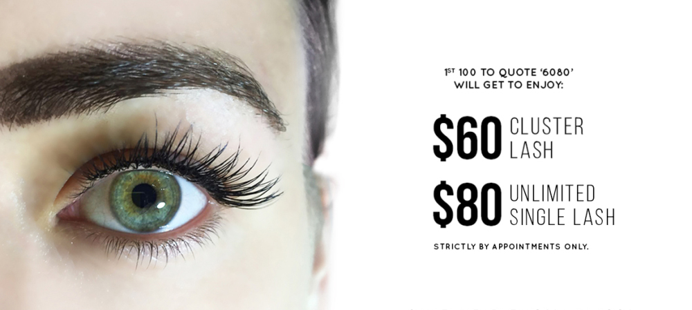 Eyelash Extensions Promotion: 6080
