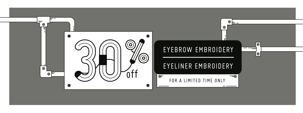 30% Off Eyebrow/Eyeliner Embroidery!